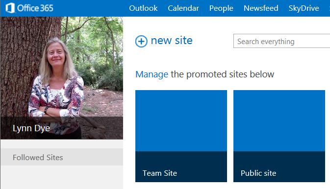 team site and public site