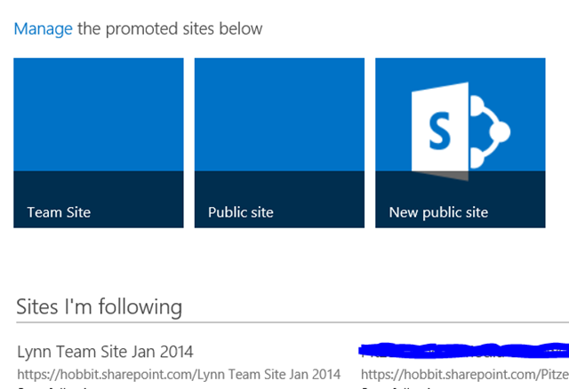 SharePoint sites that are built in