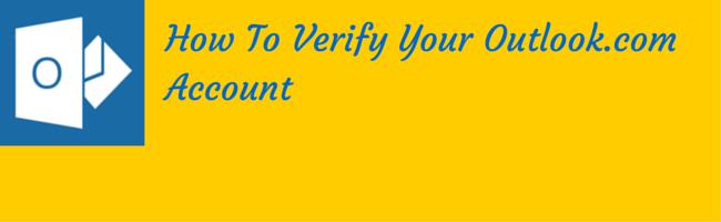 verify your outlook.com account