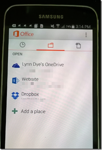 Office App on Android