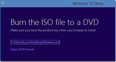burn iso file to a dvd