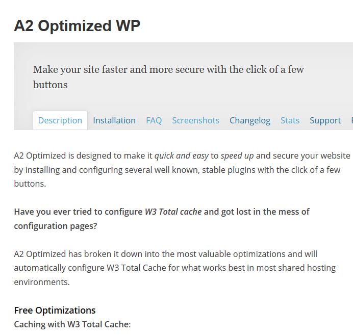 a2 optimized plugin