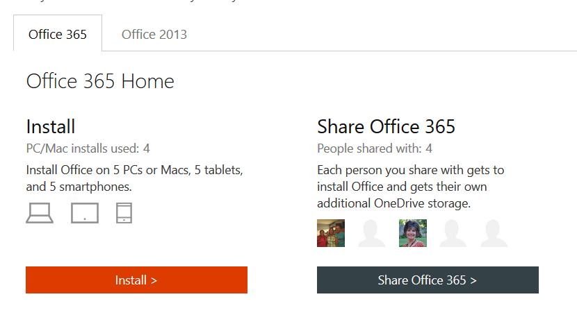 office 2013 & office 365