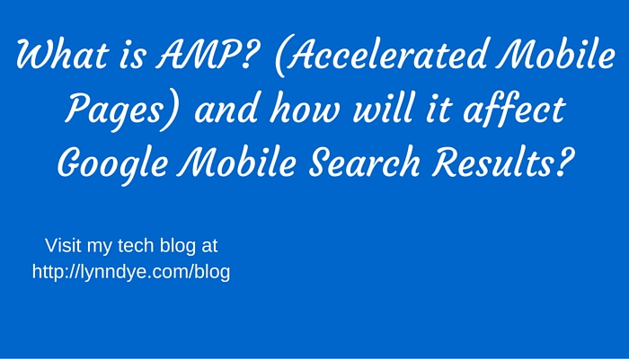 the google amp project and mobile search