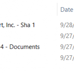 SharePoint file history