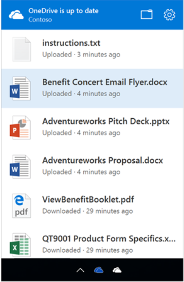 new onedrive sync engine activity center
