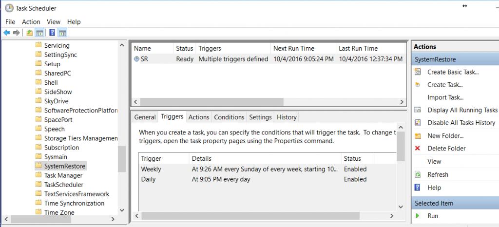 task scheduler opening screen