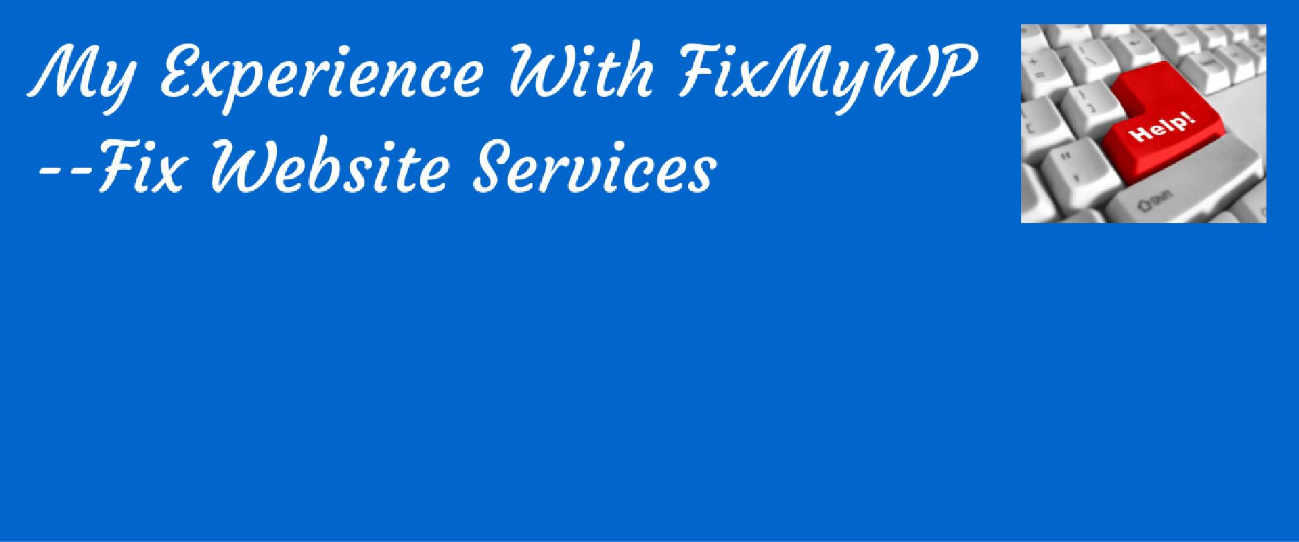 Fix My WP WordPress site fixing