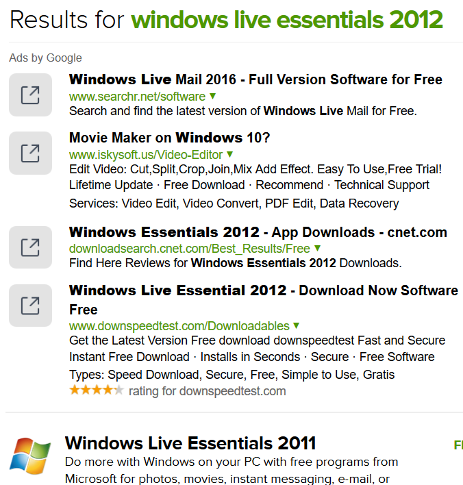 cnet download page for windows live essentials