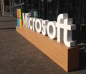Microsoft sign, image from pickit