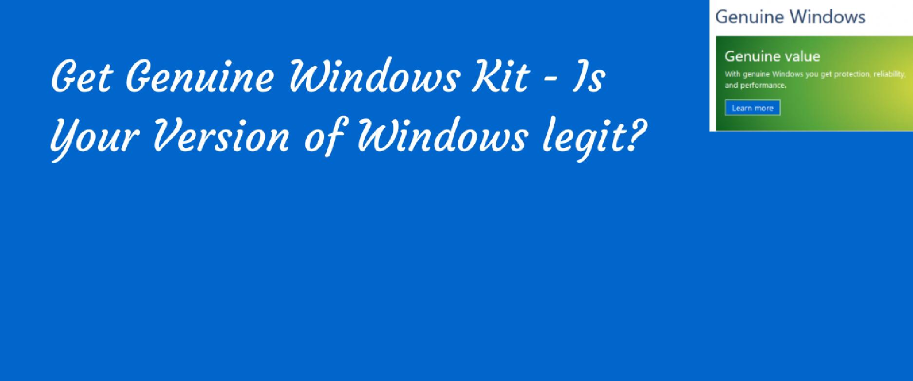 how to get genuine windows