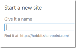 give your site a name