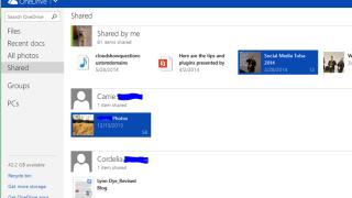 OneDrive folders I'm sharing