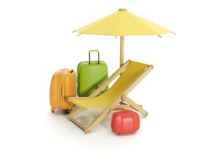 suitcases for vacation