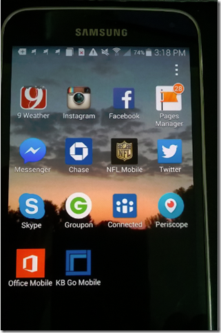 My apps on Android