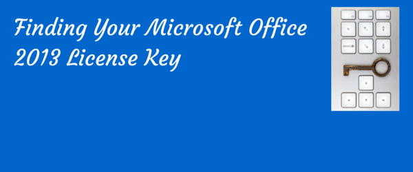 recover license key office 2013