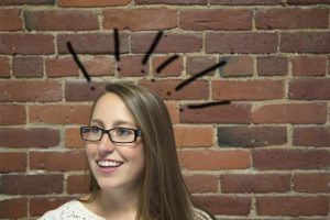 woman looks happy problem solved