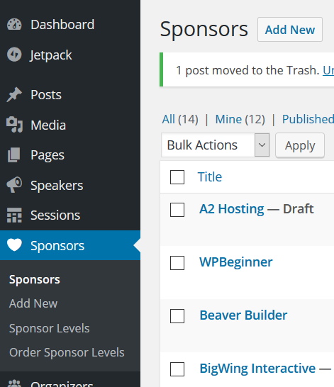 WordCamp Sponsor Tool