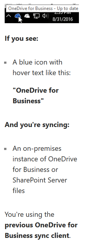 which onedrive client do you have