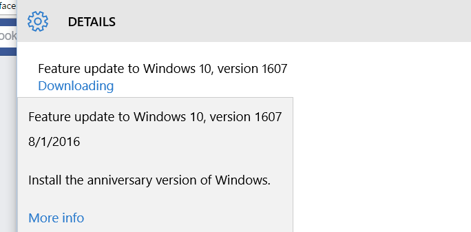 installing the windows 10 anniversary update