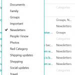 outlook.com categorize email