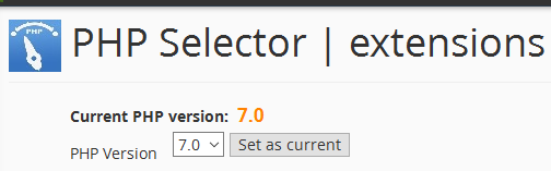 selector for php 7.0 in wordpress