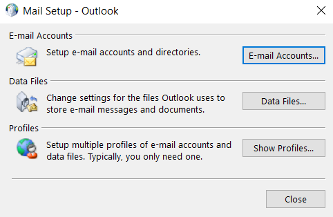 remove profile from Outlook