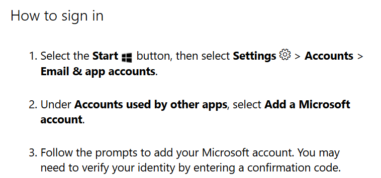 how to sign in with a microsoft account
