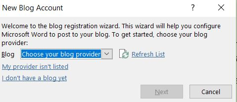 Screenshot of where you click the dropdown to select WordPress