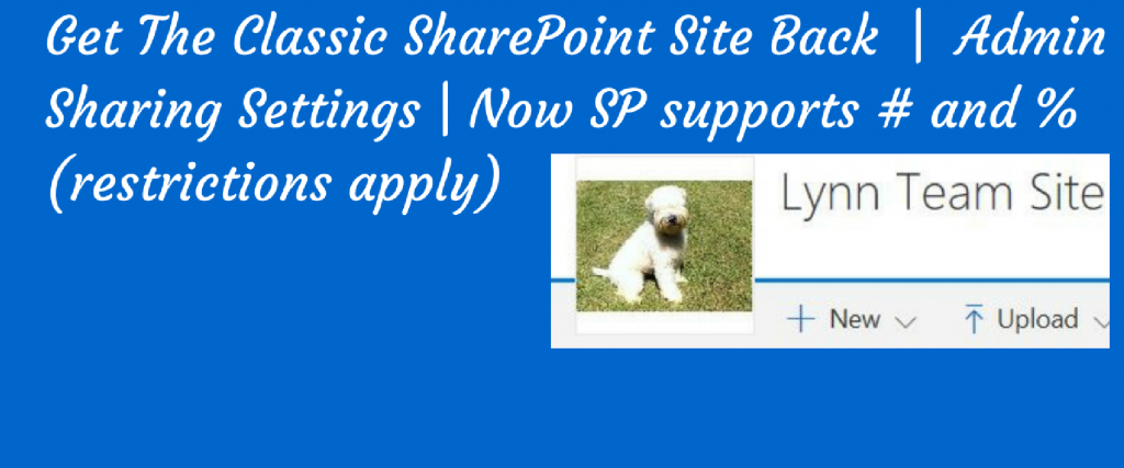 poster on how to get a classic sharepoint site