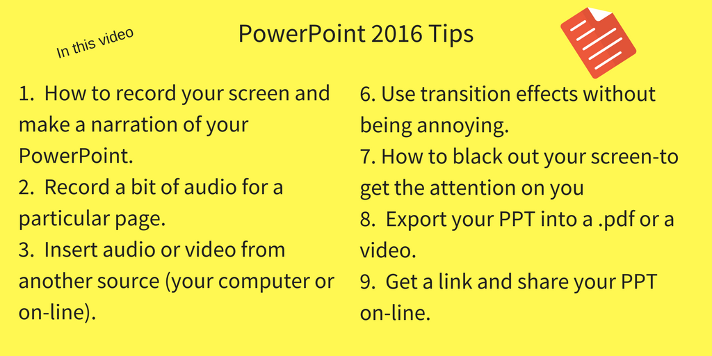 9 Top PowerPoint Tips