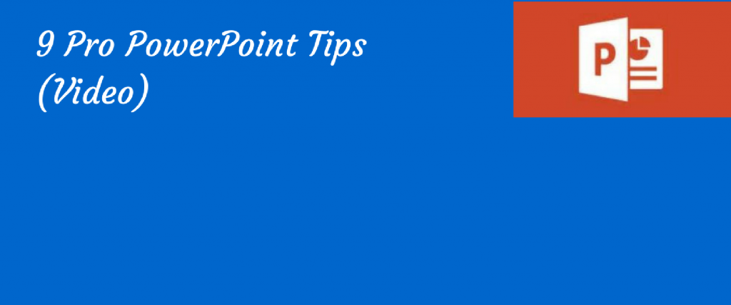 poster for tips on using powerpoint