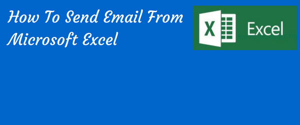 how to send email from excel