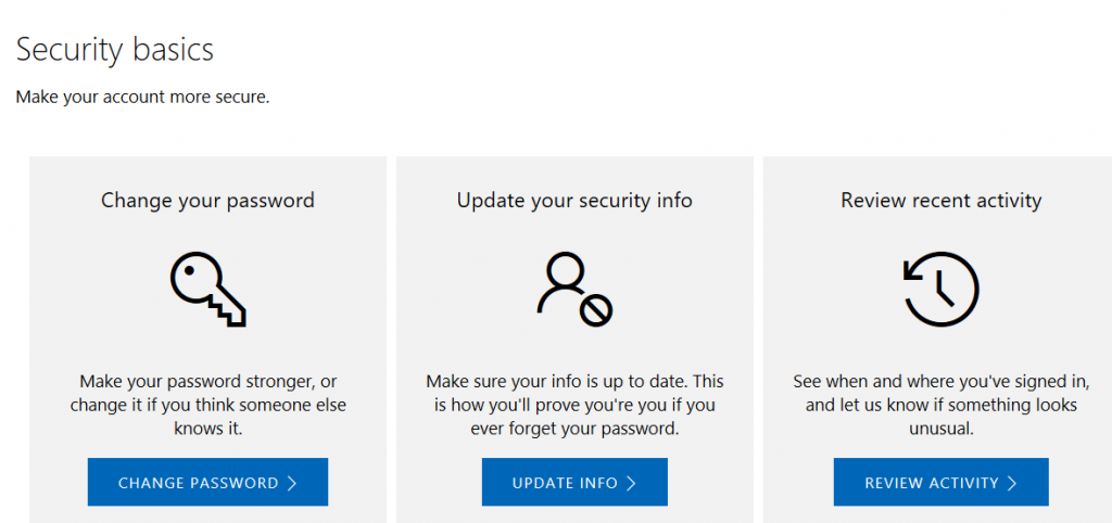 Microsoft Account Security and Privacy