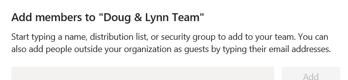Adding Guests or Members to Microsoft Teams