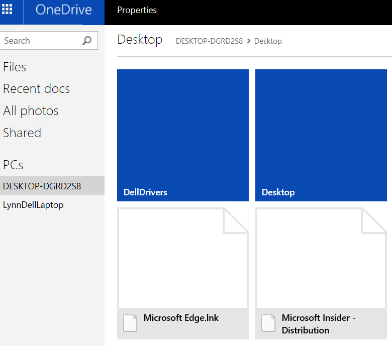 folder view using onedrive fetch