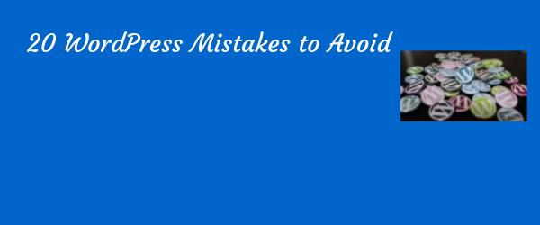 wordpress mistakes to avoid poster