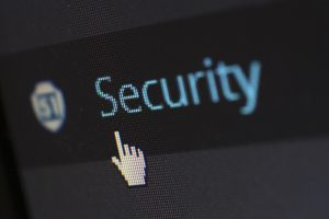 the word security in the backend of WordPress