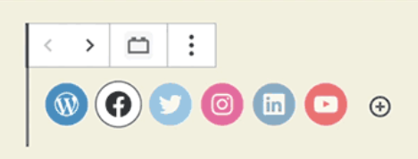 WordPress Gutenberg Social Icons block