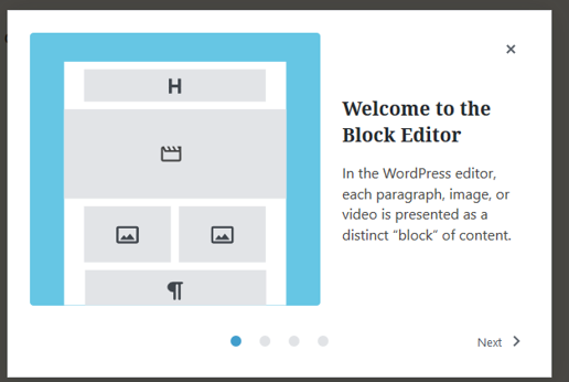 Image of Gutenberg Welcome to the Block Editor
