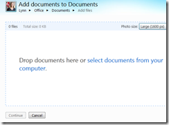 how to add documents to microsoft skydrive