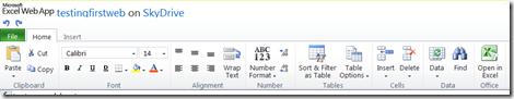 microsoft office web app ribbon